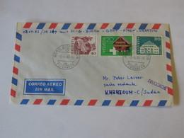 Switzerland First Flight Cover  Zurich - Khartum 1983 - Svizzera