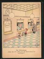 Künstler-AK Will Halle: Der Schlauberger, Briefmarkensammler - Halle, Will