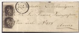 BRIEF D6  BILZEN10A IN PAAR NAAR ANTWERPEN 4.01.1860 - 1851-1857 Médaillons (6/8)