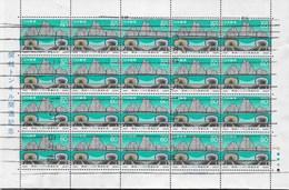 GIAPPONE - 1985 - TUNNEL DI KAN-ETSU - 60 YEN - BLOCCO DI 20 ESEMPLARI (YVERT 1560 - MICHEL 1662) - 1926-89 Emperor Hirohito (Showa Era)
