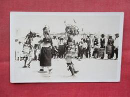 RPPC Buffalo Dance Of The Navajos   Ref 3385 - Native Americans