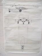 DISEGNO SU CARTA DA LUCIDO AEREO DE HAVILLAND VAMPIRE - Technical Plans
