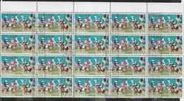 GIAPPONE - 1965 - FESTIVAL DI SOMA-NOMAOI - 10 YEN - BLOCCO DI 20 ESEMPLARI (YVERT 806 - MICHEL 892) - 1926-89 Emperor Hirohito (Showa Era)