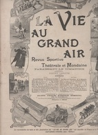LA VIE AU GRAND AIR 29 04 1900 - CHASSE AUX PHOQUES TERRE-NEUVE - PARIS ROUBAIX CYCLISME - PHOTOGRAPHIE - RUGBY - REJANE - Libri, Riviste, Fumetti
