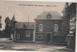 CPA 87 CHATEAU-CHERVIX. Château Du Mas - France