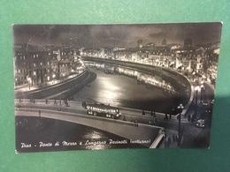 Cartolina Pisa - Ponte Di Mezzo E Lungarno Pacinotti - Notturno - 1955 - Pisa
