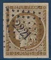 France Ceres 1849 Faux Sperati N°1 10c Bistre Brun Fonçé Obl PC 2221 Superbement Réalisé Et RR - 1849-1850 Ceres