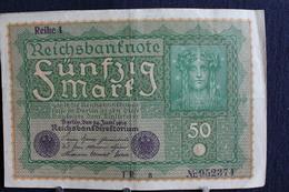 13 / Allemagne -  Empire Allemand , Reichsbanknote -  50 Mark - Berlin  24. 6.1908  /  N°  TR  A  Nr.952374 - 50 Mark