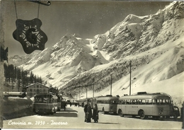 Cervinia (Aosta) Inverno, Pulman Sciatori E Scorcio Panoramico, Bus Of Skiers And Panoramic View, Bus De Skieurs - Aosta