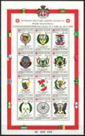 SMOM - 1988 - CONVENZIONI POSTALI DAL 1986 AL 1988 - FOGLIETTO - SOUVENIR SHEET -  MNH - Sovrano Militare Ordine Di Malta
