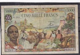 Afrique Equatoriale  5000 Fr  RR - Billetes