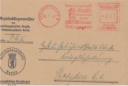 Brief Francotyp F Steglitz Berlin Wohngegend Bezirk Bürgermeister Dienstsache - Dienstpost