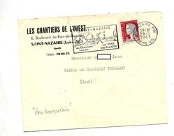 Lettre Flamme Saint Nazaire Chantier Naval Plage Volley Entete Chantier - Sellados Mecánicos (Publicitario)