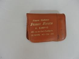 Pochette En Cuir Publicitaire Sur France Fleurs H. Sampic 42, Rue Du Général Faldherbe Le Havre (76). - Other