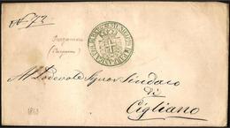 Italia/Italy/Italie: 1863 - Franchigia Postale, Free Post, Postal Franchise, Stemma, Coat Of Arms, Blason - Buste