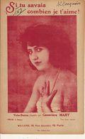 PARTITION N° 162 / SI TU TU SAVAIS COMBIEN JE T AIME / GENEVIEVE MARY: COLLIER DE PERLES - Liederbücher