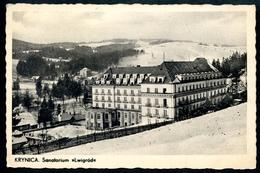 Krynica-Zdrój, Sanatorium LWIGRODE,8.2.1941, Feldpost 2. WK, Heereskuranstal - Polen