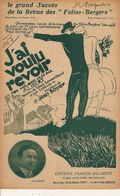 PARTITION N° 164/ J AI VOULU REVOIR / FOX MELODIE : Jean Boyer / ALIBERT - Liederbücher