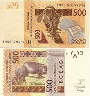 WEST AFRICAN STATES   H: Niger        500 Francs       P-619H[g]        2012 - (20)19        UNC - Westafrikanischer Staaten