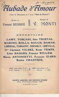 PARTITION N° 168 / AUBADE D AMOUR / MONTI / BEISSIER / - Liederbücher