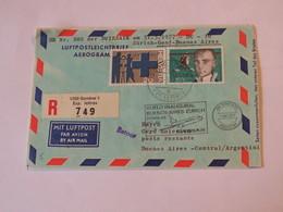 Switzerland First Flight Cover  Zurich - Genf- Buenos Aires 1977 - Svizzera