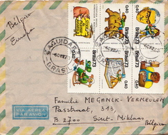 Postal History Cover: Brazil Set On Cover - Fairy Tales, Popular Stories & Legends
