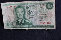 15 /  Grand-Duché De Luxembourg , Luxembourg Dix Francs  - 20 Mars 1967  /  N°  Nr C 401420 - Luxembourg