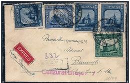 Romania/Roumanie: Raccomandata, Registered, Eexpress Castello, Castle, Château, Censura, Censure, Censorship - Castelli
