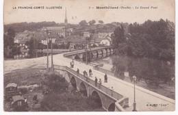 25 Doubs - MONTBELIARD -  Le Grand Pont  - Roulottes - 1923 - Montbéliard
