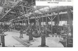 75 PARIS Cpa Etablissements ATHOS M. DROSSNER Et Cie PARIS Salle De Fraisage    Touly Phot - France