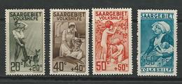 GERMANIA SARRE 1926 - Pro Opere Di Previdenza - N. 103 / 106 * - Serie Completa - Cat. 50 € - Lotto N. 4956 - Nuovi