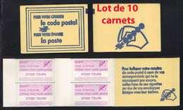 TOURS - INDRE ET LOIRE / ERINNOPHILIE - POSTE - CODE POSTAL  - LOT DE 10 CARNETS DE 8 VIGNETTES (ref 4485) - Commemorative Labels