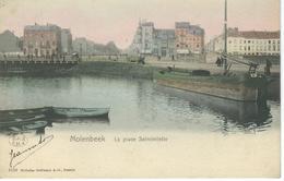 MOLENBEEK : La Place Sainctelette - TRES RARE CPA - St-Jans-Molenbeek - Molenbeek-St-Jean
