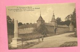C.P.  Bolland  = Façade  Principale  Du Vieux  Château Et  Monument  Des  Combattants - Herve
