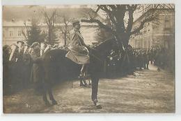 Carte Photo Défilé Legiobanka Troupe Tchèque Défilé Devant Chasseurs Alpins 1920 Fotograf Dvorar Josetov - Guerre 1914-18