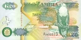Zambia  20 Kwacha (1992) Pick 36b UNC - Zambie