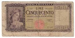 Italy 500 Lire 10/02/1948 - [ 2] 1946-… : Républic