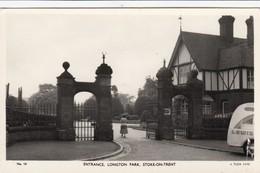 RP: STOKE-ON-TRENT , England , 40-50s ; Entrance , Longton Park: TUCK - Stoke-on-Trent