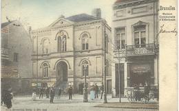 BRUXELLES : Maison Communale D'ETTERBEEK - Nels Série 1 N° 248 - TRES RARE VARIANTE COLORISEE Cachet De La Poste 1904 - Etterbeek