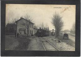 CPA Eure Et Loir 28 Senonches Gare Station Train Chemin De Fer écrite - France