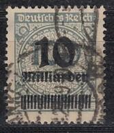 DR 337 AP, Gestempelt, Geprüft, Rosettenaufdruck 1923 - Infla