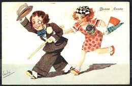 """ENFANT - CP - Couple D'enfants Déguisés - """" Bonne Année """" - Circulé - Circulated - Gelaufen - 1936 - Autres"""