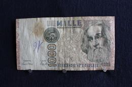 19 / Italie - 1946: République Banca D'Italia,1000 Lire, Mille - 6 Janvier 1982 /  N° ME  715772  Q - [ 2] 1946-… Republik