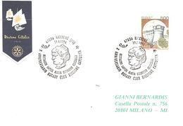 ITALIA - 1994 RICCIONE (FO) X Anniv. ROTARY Riccione Cattolica - Restauro Lapide MARIA BOORMAN CECCARINI - Rotary, Club Leones