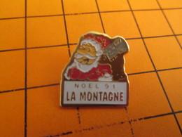 918c Pins Pin's / Rare & Belle Qualité  THEME NOEL / PERE NOEL 1991 JOURNAL LA MONTAGNE - Christmas