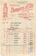 FACTURE 1950  PAMPRE D'OR DEON ET CIE PUTEAUX - 1950 - ...
