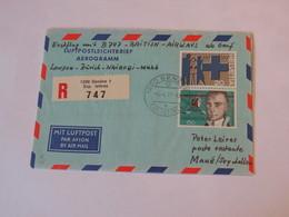 Switzerland First Flight Cover London - Zurich -  Nairobi - Mahe 1977 - Svizzera
