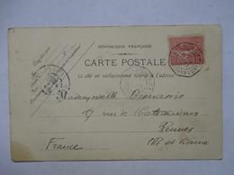 PORT-SAID   -  VUE  -    - CACHET DE BATEAU MARSEILLE A  LA REUNION  LV N°2     TTB - Port-Saïd