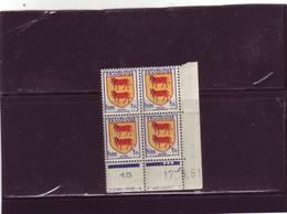 N° 901 - 1F Blason Du BEARN - A De  A+B - 1° Tirage Du 16.5.51 Au 22.5.51 - 17.5.1951 - - Coins Datés