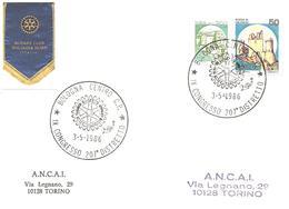 ITALIA - 1986 BOLOGNA IX Congr. 207° Distretto ROTARY - Logo Dell'associazione - Rotary, Club Leones